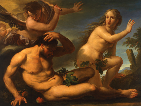 The museum offers a variety of works, including pieces from the Renaissance such as this painting by Antonio Molinari (1665-1704), Italian Expulsion from Paradise