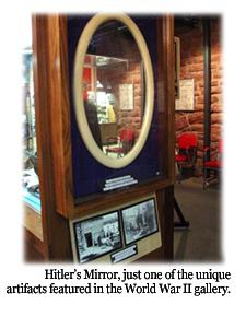 Hitler's Mirror part of the WWII exhibit.