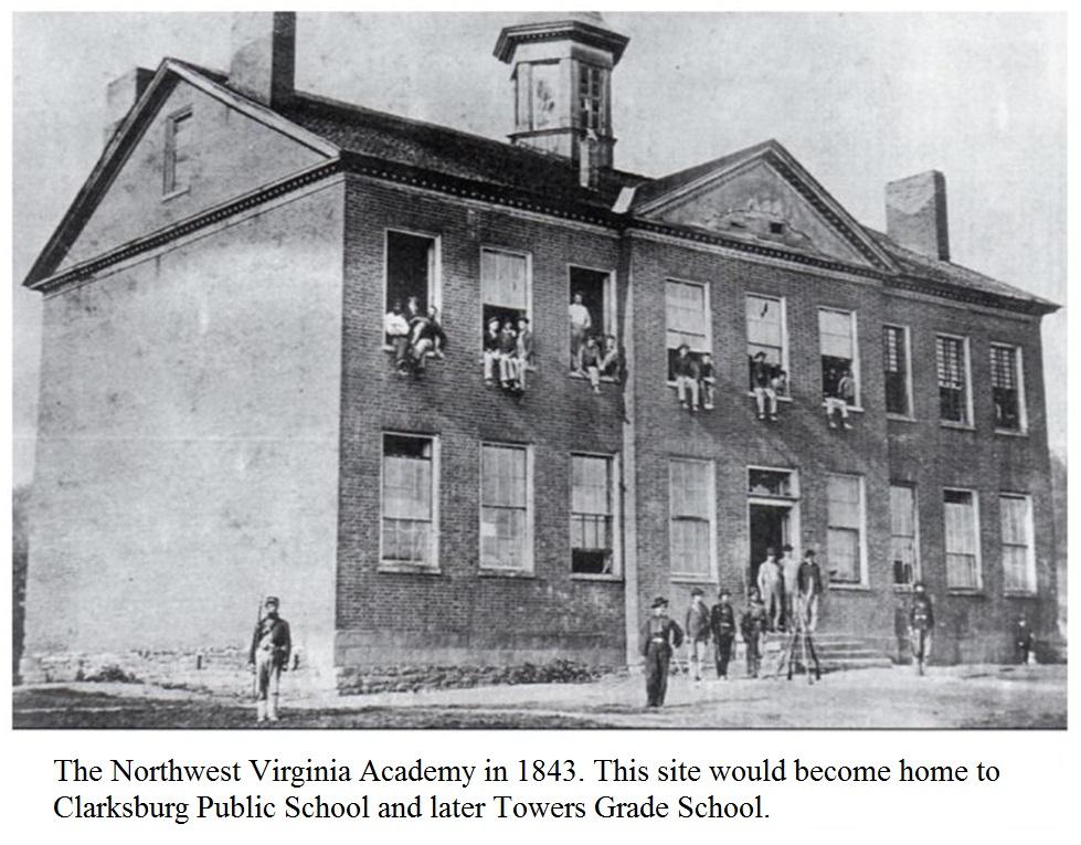 The Northwest Virginia Academy in 1843.
