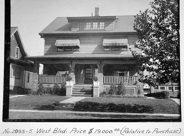 2093-95 West Blvd, circa 1927. The house was built  c.1920.