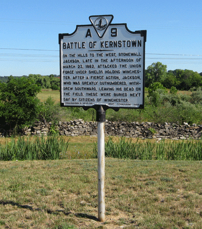 historical site marker for the battlefield.