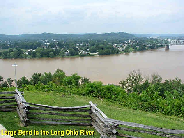 No other location in the Mid-Ohio Valley commands such a wide-ranging view of its commercial activity.  Fort Boreman was a natural citadel for governing river traffic.
