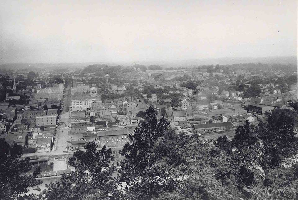 1897. View of Parkersburg from Fort Boreman. Picture courtesy of Dan Kemper.