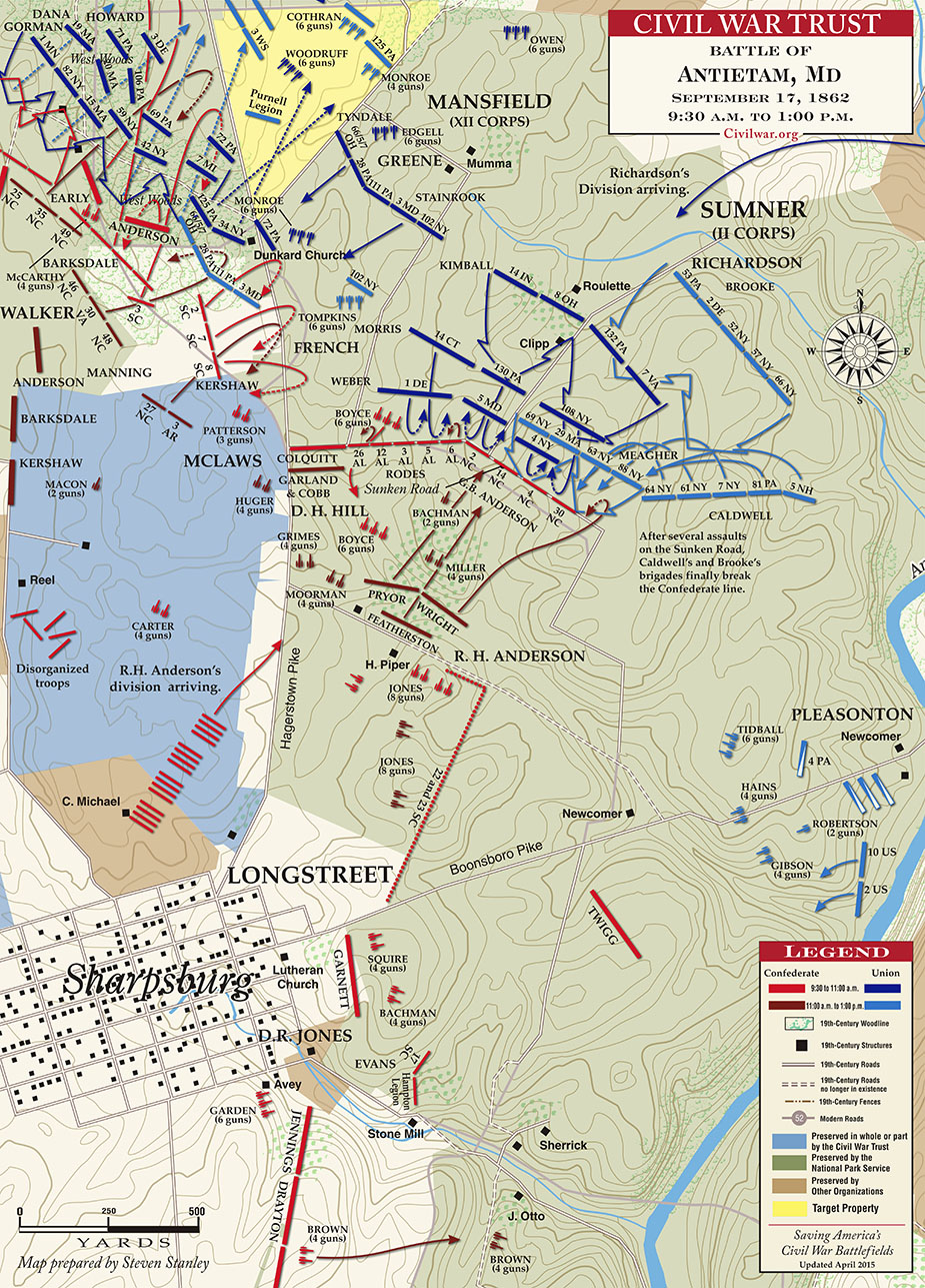 Battle map from the Civil War Trust