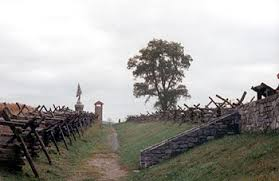 The Sunken Road was often traversed by farmers and passersby, causing the landscape to be worn down. Its topography contributed to its role in the Battle of Antietam.