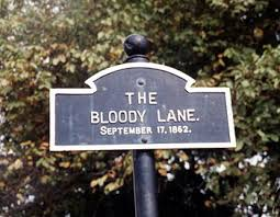 Marker identifying the location of the Bloody Lane.