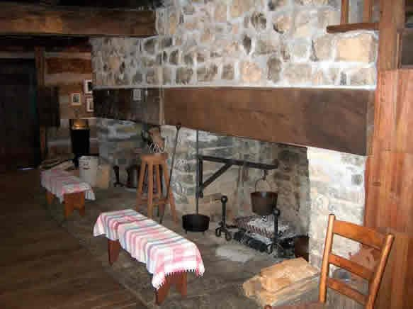 Fort Ashby double fireplace.