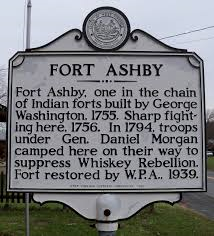 Fort Ashby historical marker.
