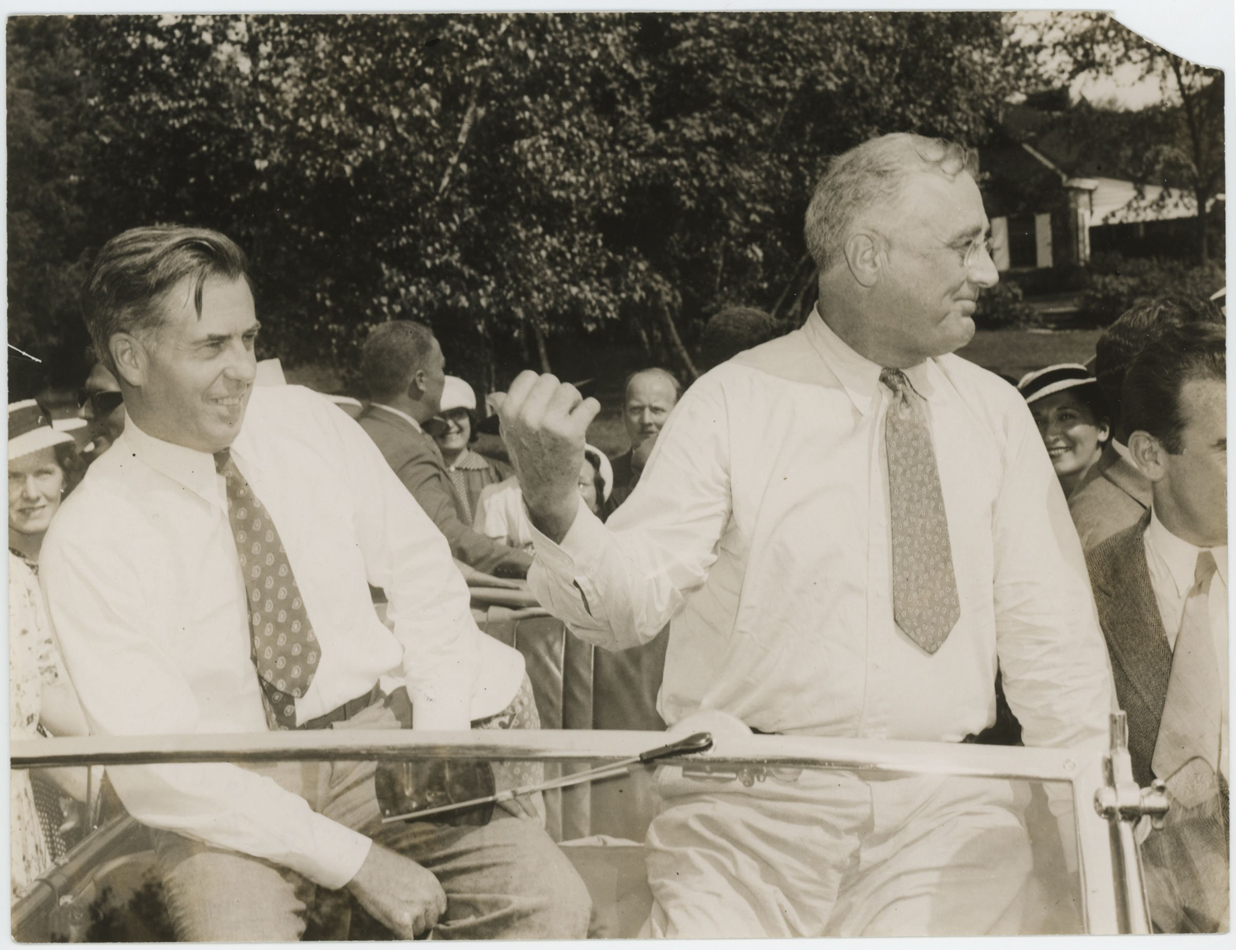 FDR with his secretary of Agriculture and next vice-president Henry A. Wallace at a Val-Kill picnic, August 1940