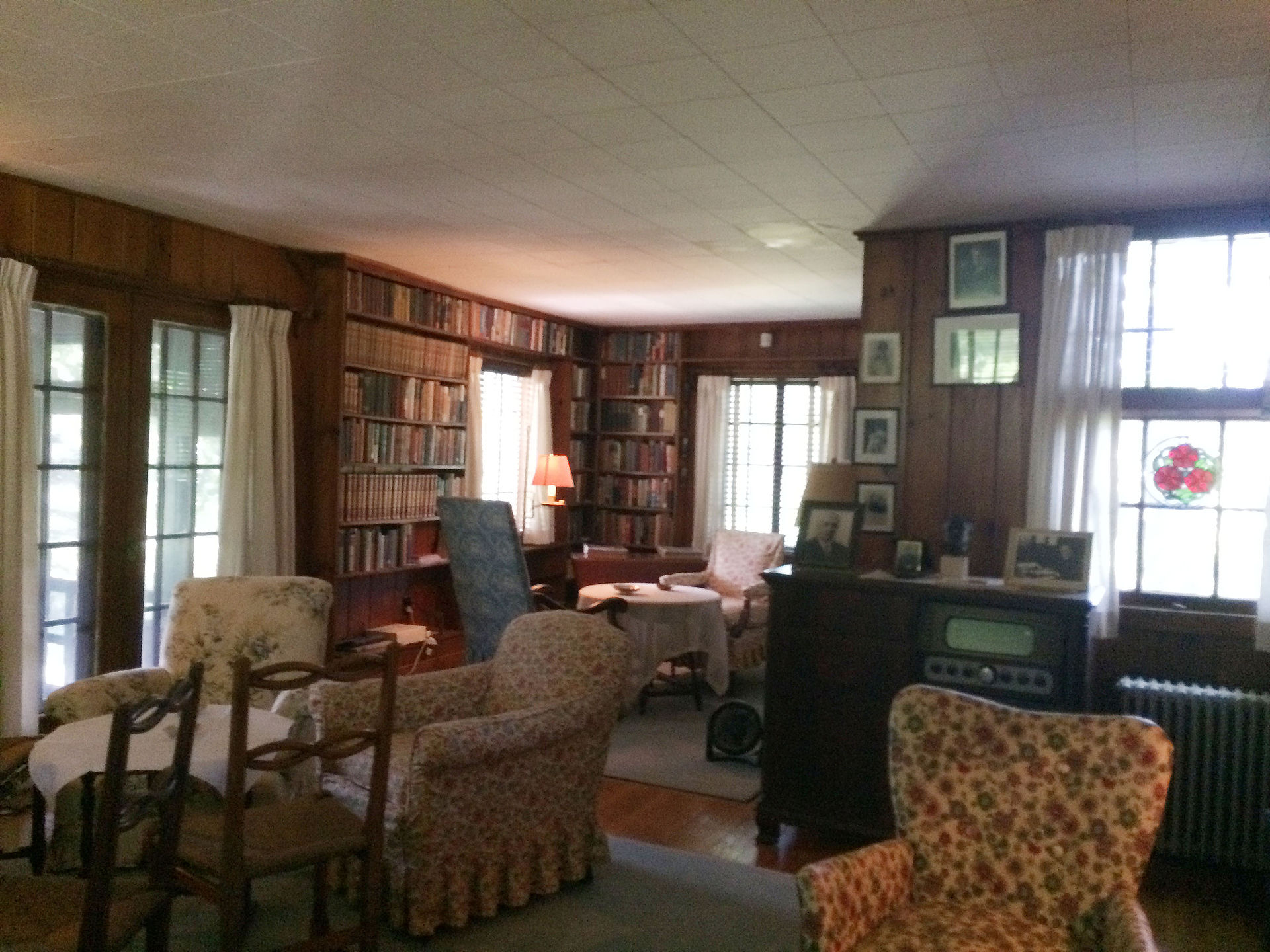 The living room in Val-Kill as seen by visitors today