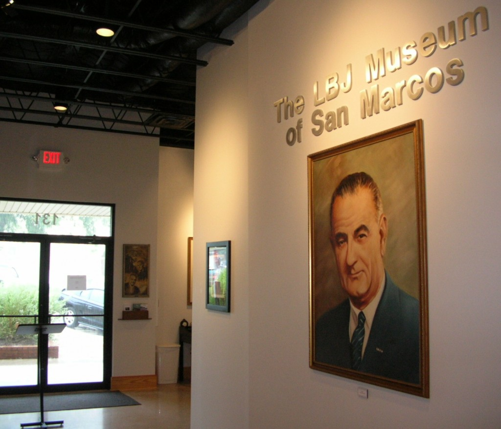 San Marcos' LBJ museum contains exhibits about the 36th President and his years as a student and teacher in the region.