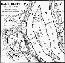 Map of Ball's Bluff Battle