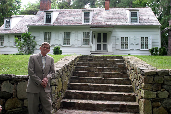Richard Perry in front of the house in 2006. Credit: New York Times