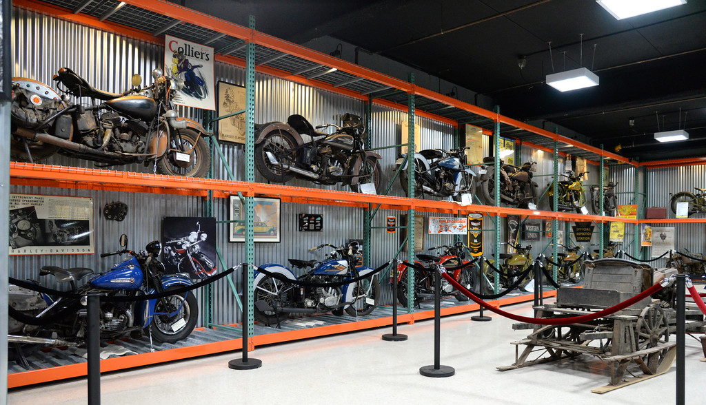 Some of the bikes on the display