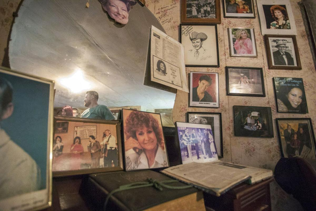Photographs of Family and Friends Adorn the Cabin