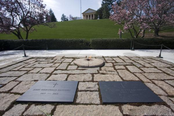 A view of the flame and plaques.