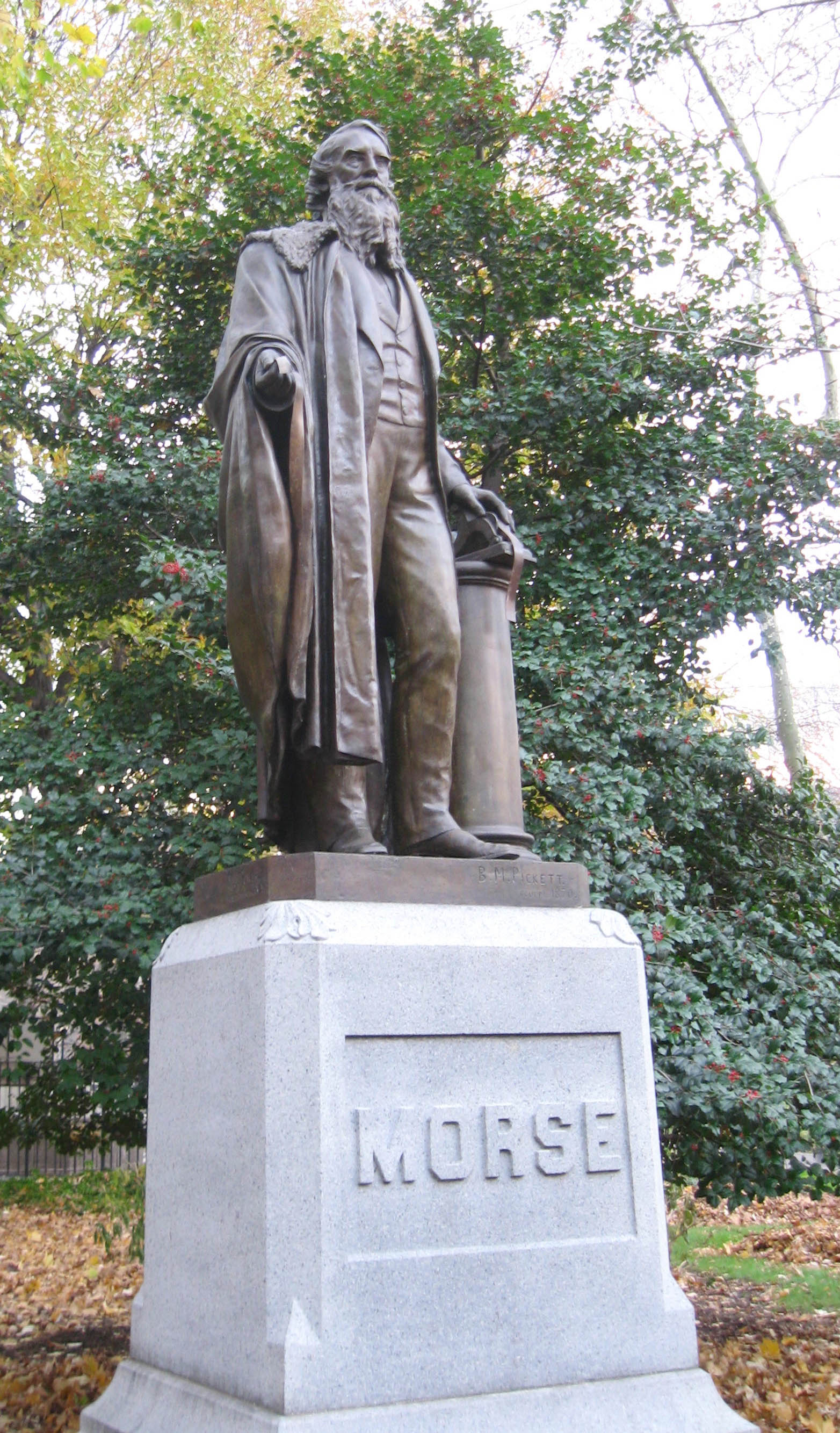 Statue of Morse in Central Park, New York