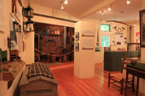 A view inside the museum, which displays numerous tools and other artifacts related to the canal