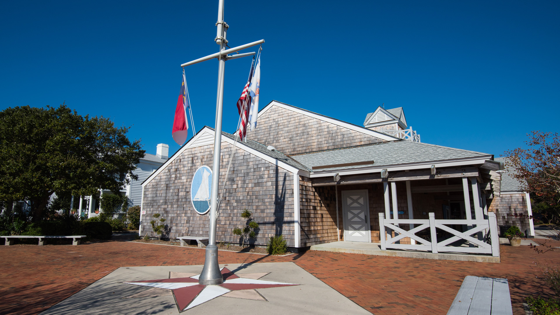 The front of Beaufort's Maritime Museum