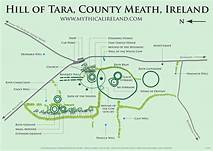 Map with Legend for the Hill of Tara