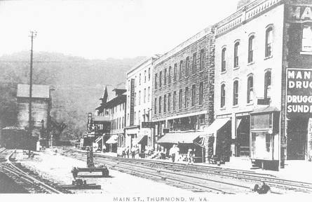 The town of Thurmond, WV