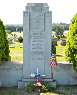 Boyd Wagner grave at Grandview Cemetery