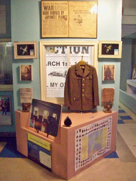 One of several exhibits inside the museum.