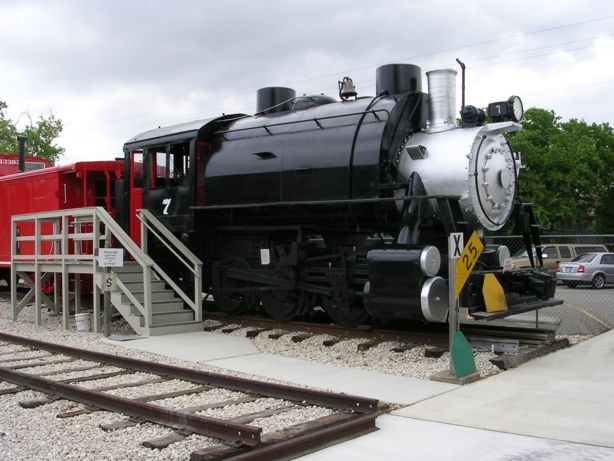 This historic locomotive was built in 1942 by H. K. Porter Locomotive Company.