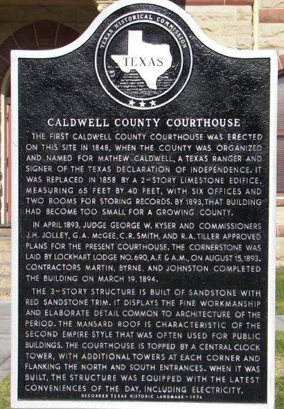 This historic marker on the courthouse lawn describes some of the building's architectural features.