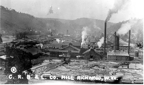 Cherry River Boom and Lumber Company Mill in 1924.
