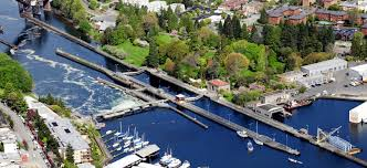 Ballard Locks Arial View