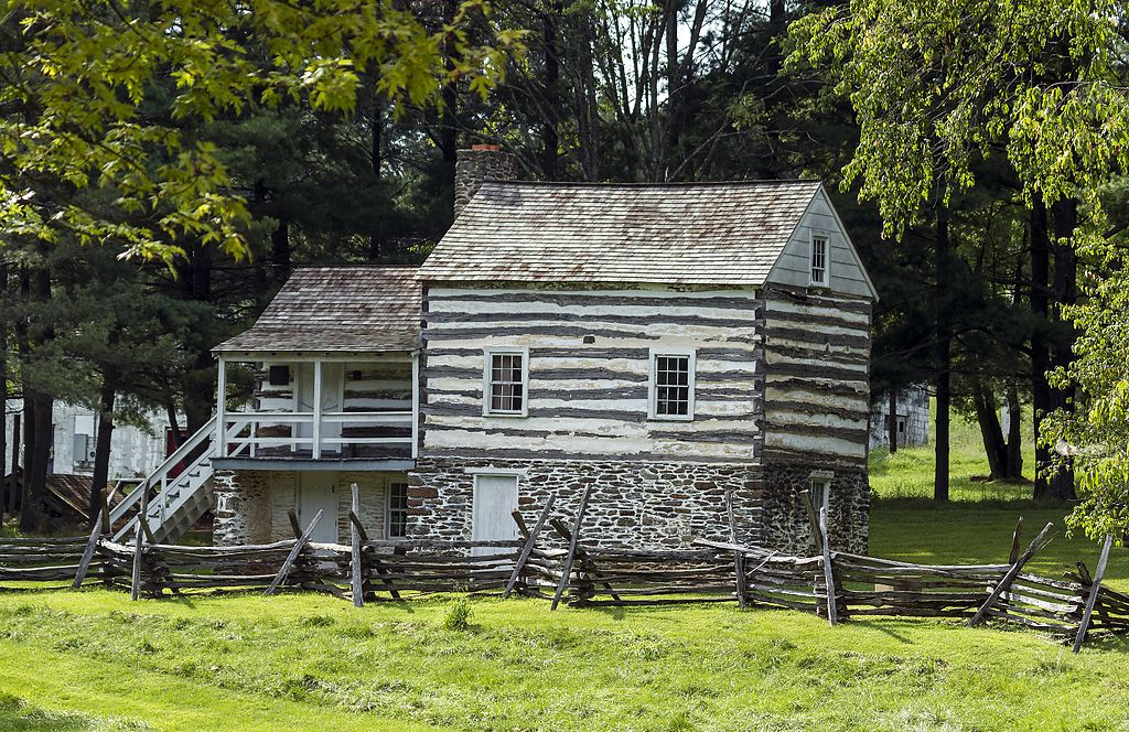 The farmhouse restored to the time of John Brown.