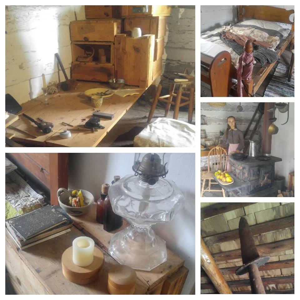 A view from inside of the Farm house shows some of the tools and supplies that were used to prepare for the raid.