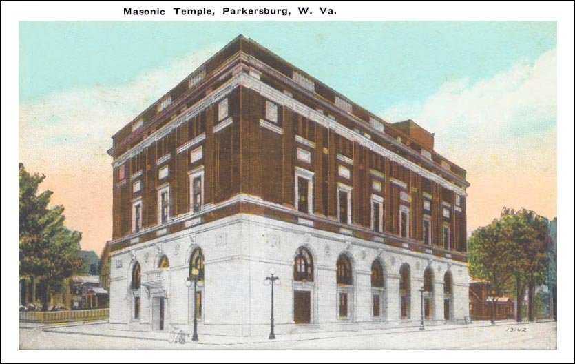 Yet another postcard illustrates the building's popularity and importance as a Parkersburg landmark.