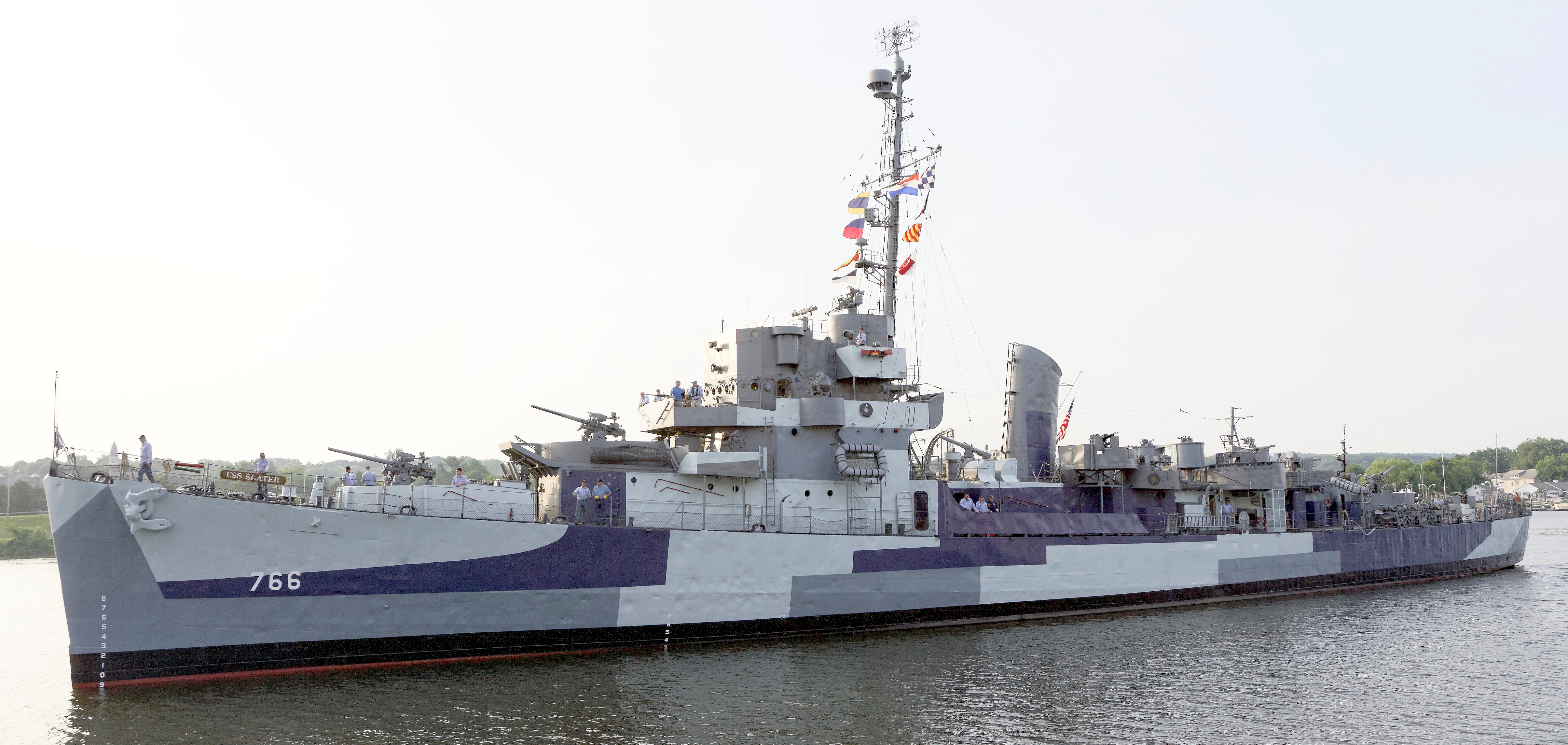 The Slater 2014, painted as she looked in 1945.