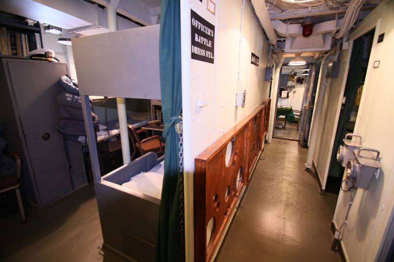 The officer's country passageway on the main deck