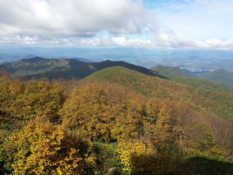 Fall time on top of Brasstown Bald.
