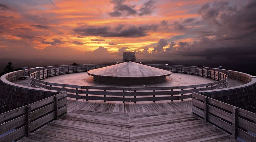 Top deck of the observatory.