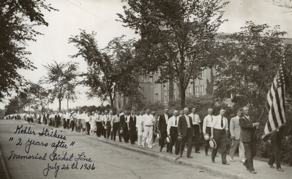 Kohler strikers march to commemorate 2-year anniversary of the 1934 strike