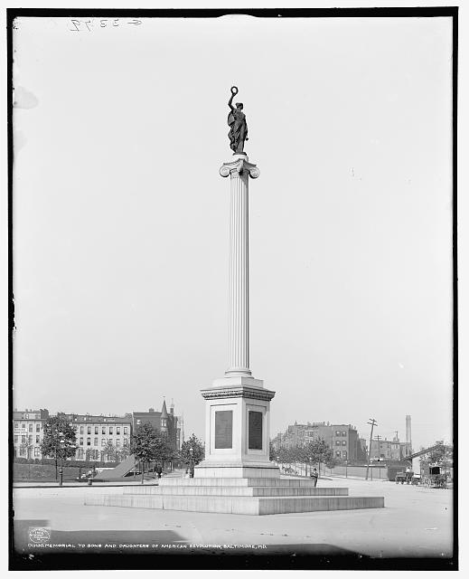 Maryland Line Monument (source: Library of Congress)