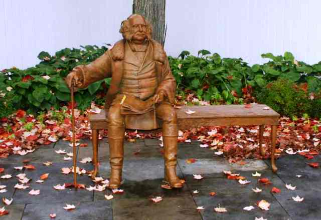 Statue of Van Buren located in the Village of Kinderhook.