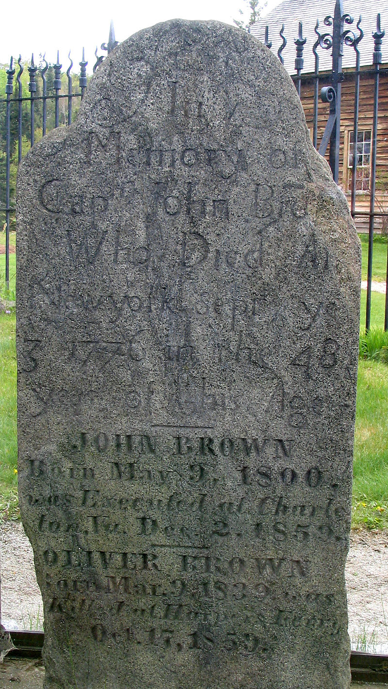 Brown's tombstone