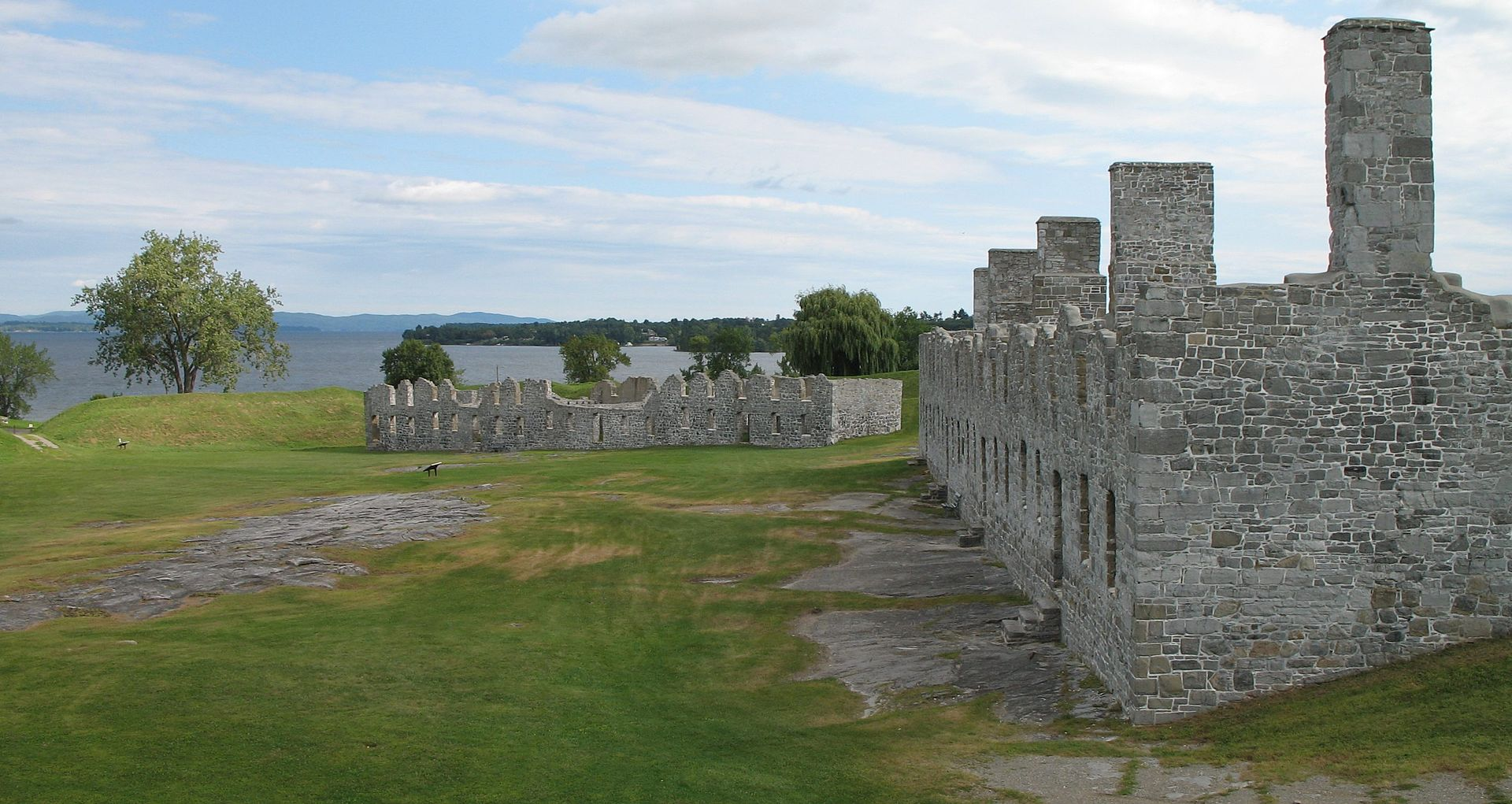 Ruins of Fort Crown Point, which was mostly an earthen fortress, the largest one built in the country.
