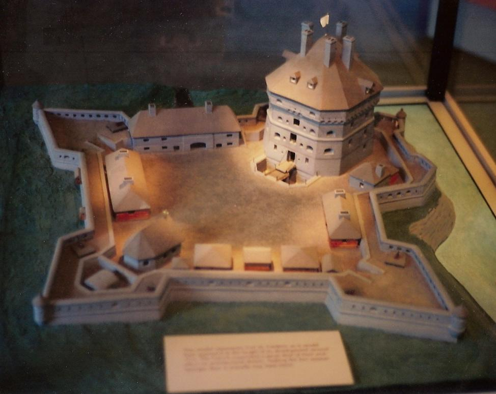 Model of Fort Saint-Frédéric in the museum