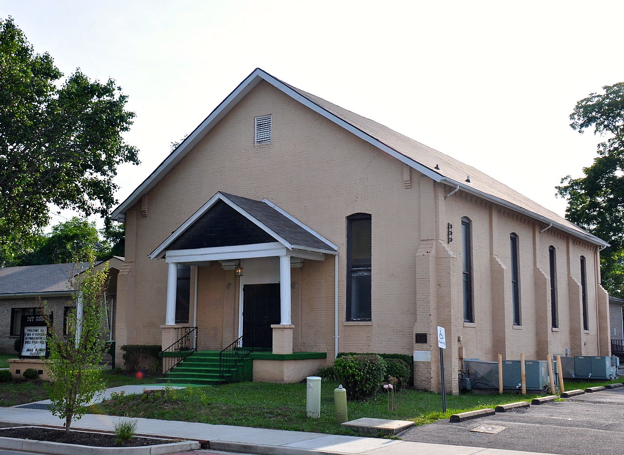 Allen Chapel A.M.E. Church was built in 1889 and is listed on the National Register of Historic Places