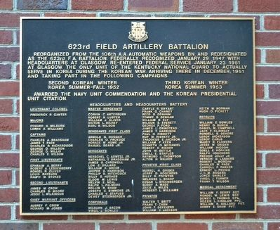 Marker of the 623rd