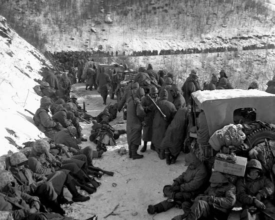 The First Marine Division at the Chosin Reservoir