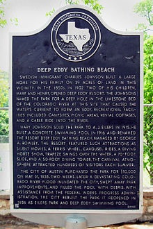 Deep Eddy Historical Marker