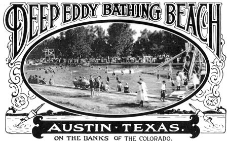 Historical postcard of Deep Eddy