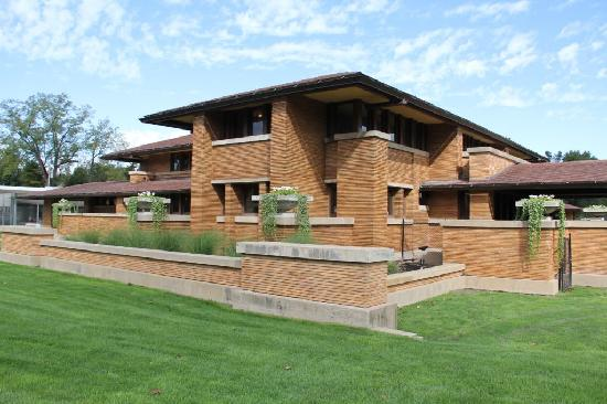 The Martin House was built in 1905 and remains one of Frank Lloyd Wright's best works.